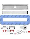 Duschelement Wiper 900 x 1600 mm Showerlay Punkte Sirocco