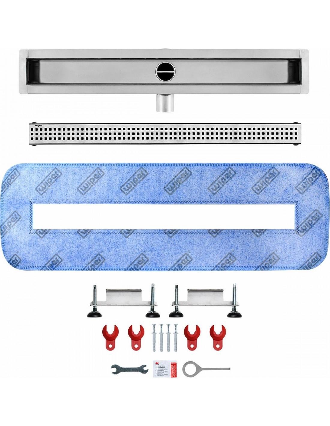 edelstahl ablaufrinne wiper 1100 mm premium sirocco modernedusche. Black Bedroom Furniture Sets. Home Design Ideas
