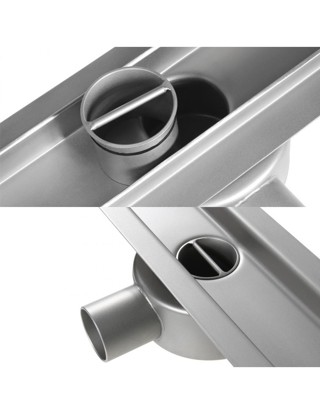 edelstahl ablaufrinne wiper 1100 mm premium tivano modernedusche. Black Bedroom Furniture Sets. Home Design Ideas