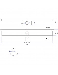 Duschrinne Wiper Elite Slim 500 mm Pure