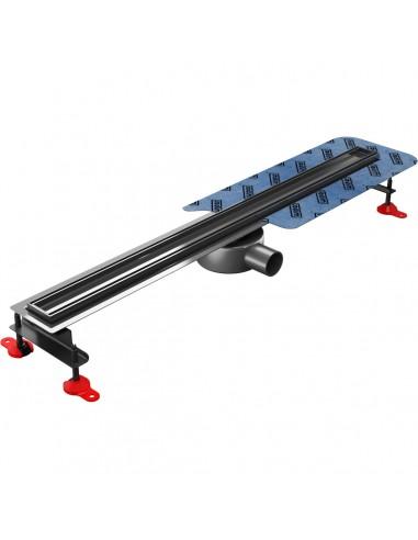 Duschrinne Wiper Elite Slim 500 mm Pure Komplett-Set