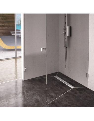 Duschelement Wiper 800 x 800 mm Showerlay Linie Mistral