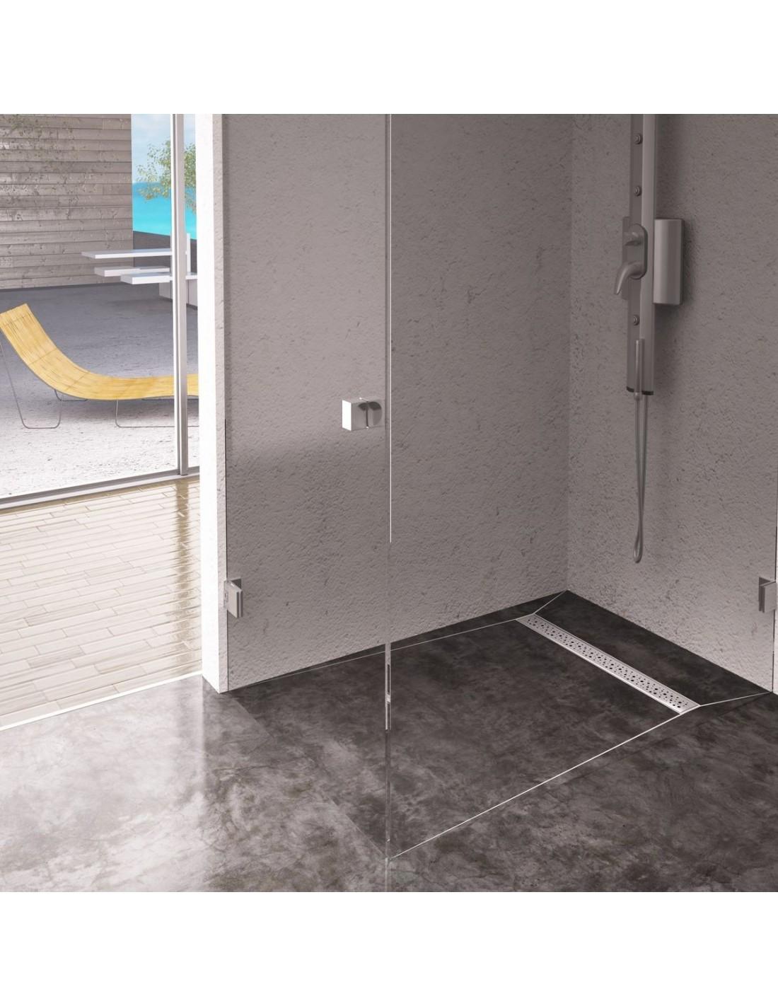 bodengleiche dusche platte wiper 900 x 900 mm linie mistral modernedusche. Black Bedroom Furniture Sets. Home Design Ideas