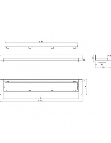 Duschrinne Wiper 700 mm Classic Mistral