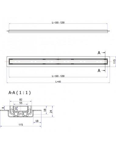 Duschelement Wiper 1000 x 1000 mm Showerlay Linie Pure