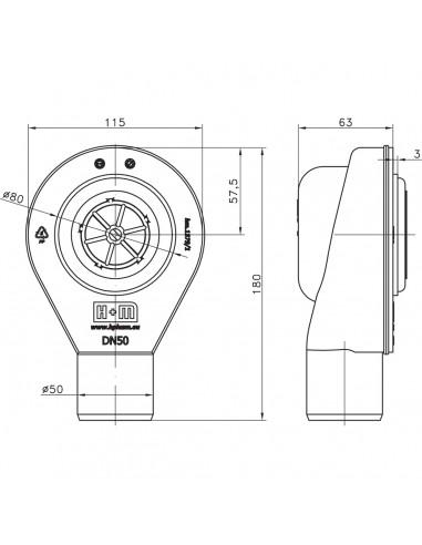 Duschelement Wiper 900 x 1200 mm Showerlay Linie Zonda